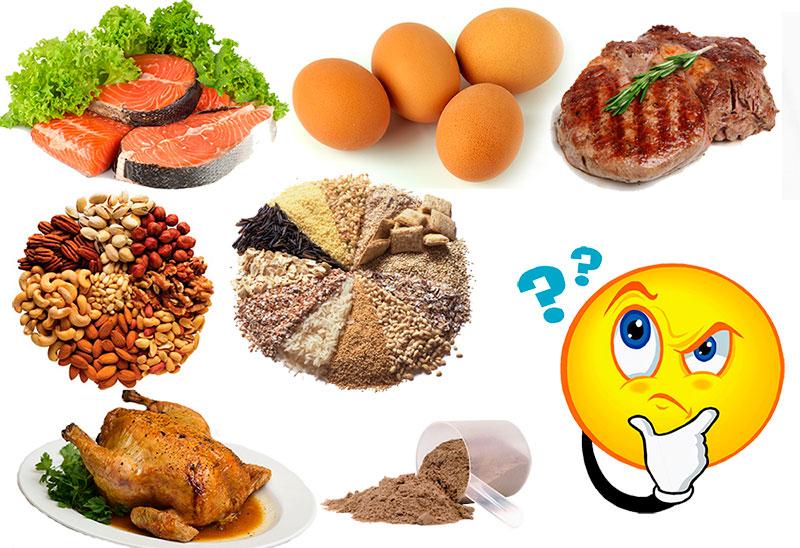 Какие продукты с высоким содержанием белка?